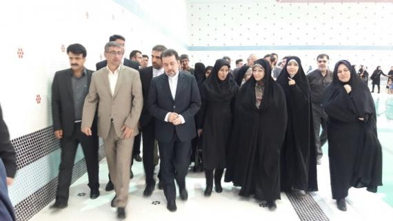 افتتاح استخر سرپوشیده بانوان همدان