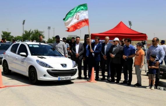 مسابقات اتومبیلرانی اسلالوم قهرمانی کشور در همدان