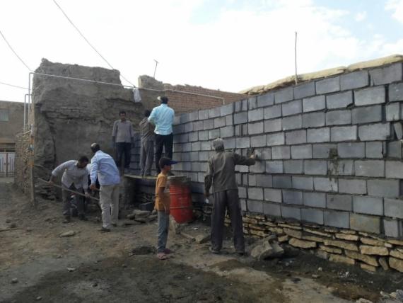 گروه جهادی حوزه شکری پور در روستای دینگله کهریز