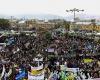 آغاز راهپیمایی 13 آبان 94 در دارالمومنین همدان